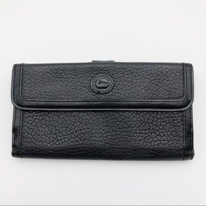 Dooney & Bourke All Black Vintage Leather Wallet